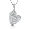 Sterling Silver Heart Pendant With Pave Set Heart  and BalePendants - JOOLS By Jenny Brown