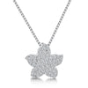 Sterling Silver Pendant - Small Pave Set Star. On16-18 Inch Silver ChainPendants - JOOLS By Jenny Brown