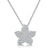 Sterling Silver Pendant - Small Pave Set Star. On16-18 Inch Silver Chain