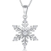 Sterling Silver Pendant -Snowflake Set With Seven Cubic Zirconia StonesPendants - JOOLS By Jenny Brown