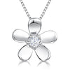 Sterling Silver Flower Pendant With Cubic Zirconia CentrePendants - JOOLS By Jenny Brown