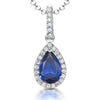 Sterling Silver Sapphire Blue Zirconia Teardrop PendantPendants - JOOLS By Jenny Brown