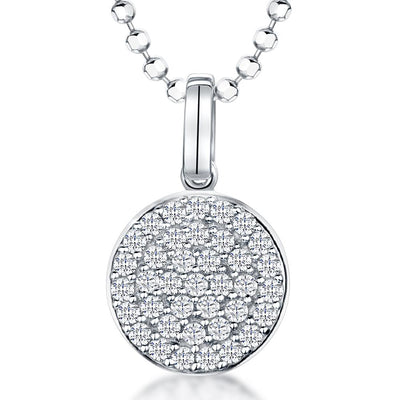 Sterling-Silver-Disc-Pendant-Set-with-Circles-Of-Round-Brillaint-White-Zirconia-Stones