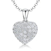 Sterling Silver Pendant -Tiny Pave CZ Set HeartPendants - JOOLS By Jenny Brown