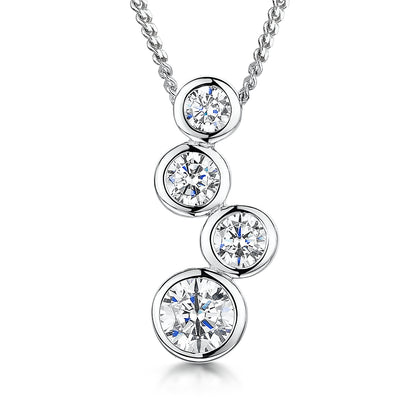 Sterling Silver Boodles 4 Drop Raindance Style PendantPendants - JOOLS By Jenny Brown