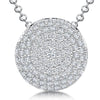 Sterling-Silver-Pave-Set-Circlular-Dome-Pendant-Set-With-Cubic-Zirconia-Stones