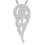 Sterling Silver Angel Open Wing Pendant