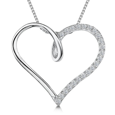 Sterling Silver Pendant -  An Open Silver HeartPendants - JOOLS By Jenny Brown