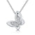 Sterling Silver Butterfly With A Six Stone Centre Of Cubic Zirconia Round Cut Stones