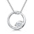 Sterling Silver Circle Necklace With A Cubic Zirconia Set Twist Feature
