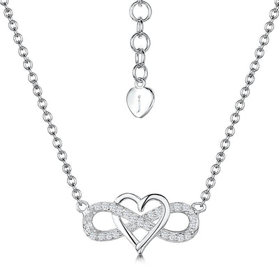 Sterling Silver  & Cubic Zirconia Infinity Heart  NecklacePendants - JOOLS By Jenny Brown