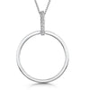Sterling-Silver-Polished-Open-Circle-Pendant-Set-Featuring-A-White-Zirconia-Set-Bale