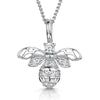 Sterling Silver Bee Necklace Set With White Cubic Zirconia StonesNecklaces - JOOLS By Jenny Brown