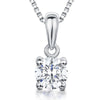 Sterling Silver Pendant - Single One  Carat Brilliant Cut Round CZ With  Silver BalePendants - JOOLS By Jenny Brown