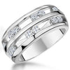 Sterling Silver And Cubic Zirconia Open Triple Band RingRings - JOOLS By Jenny Brown
