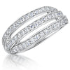 Sterling Silver Triple Open Band Set With Cubic Zirconia StonesRings - JOOLS By Jenny Brown