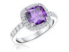 Sterling Silver  Amethyst Zirconia 3 Carat RingRings - JOOLS By Jenny Brown