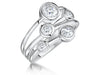 Sterling Silver Ring Featuring  Five Cubic Zirconia Stones- Boodles Raindance StyleRings - JOOLS By Jenny Brown