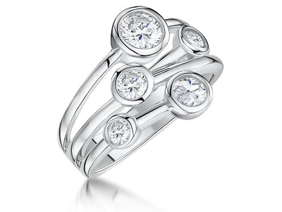 Sterling Silver Raindance Boodles Style  Five Stone RingRings - JOOLS By Jenny Brown