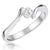 Sterling Silver Solitaire Ring Set With Round Brilliant  Quarter Carat   Cubic Zirconia Stone