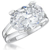 Sterling Silver  Oval Solitaire RingRings - JOOLS By Jenny Brown