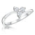 Sterling Silver  Ring  Set With Three Small Round Cubic Zirconia Stones