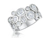 Sterling Silver  Cubic Zirconia  Ring Set With Four Different Size Stones  Boodles Raindance StyleRings - JOOLS By Jenny Brown