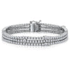 Sterling Silver Triple Row  Tennis Bracelet Set With The Finest Cubic Zirconia StonesBracelets - JOOLS By Jenny Brown