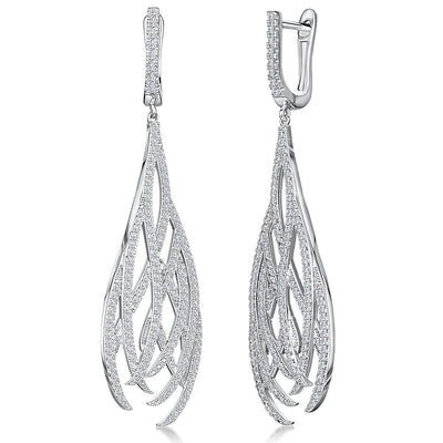 Sterling Silver Dangle Drop Earrings Filigree  StyleEarrings - JOOLS By Jenny Brown