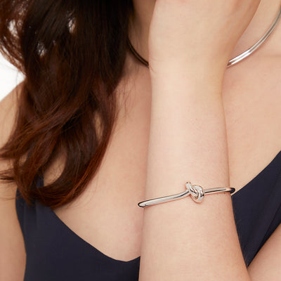 Sterling Silver Single Knot BangleBangles - JOOLS By Jenny Brown