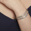 Sterling Silver Double Split Wave Style BangleBangles - JOOLS By Jenny Brown