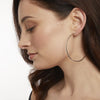 Sterling Silver Faceted  Large Hoop EarringsEarrings - JOOLS By Jenny Brown
