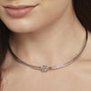 Sterling Silver Single Knot Choker NecklaceNecklaces - JOOLS By Jenny Brown
