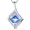 Sterling Silver Blue Topaz Square PendantPendants - JOOLS By Jenny Brown