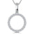 Sterling Silver Open Circle Pendant