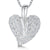 Sterling Silver Heart Pendant Pave Set with a Deep Set Silver Bale