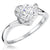 Sterling Silver Solitaire Ring Set With A 1.3 Carat Cubic Zirconia In a Twisted Setting