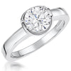 Sterling Silver 1 Carat Solitaire Ring Set With A Cubic Zirconia In A Bezel SettingRings - JOOLS By Jenny Brown