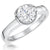 Sterling Silver 1 Carat Solitaire Ring Set With A Cubic Zirconia In A Bezel Setting