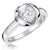Sterling Silver  Open Tension Set Cubic Zirconia 1 Carat Ring