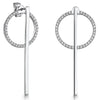 Sterling-Silver-White-Zirconia-Circles-Earrings-With-A-Detachable-Silver-Bar-Drop