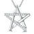 Sterling Silver Pendant Cross Over Star