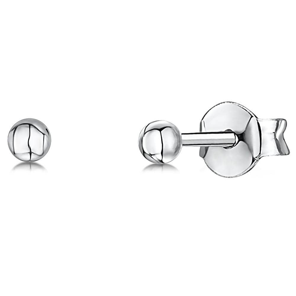 Sterling  Silver  3 MM Hypoallergenic Ball Stud Earrings - JOOLS By Jenny Brown