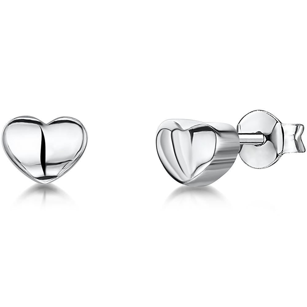 Sterling Silver Heart Stud EarringEarrings - JOOLS By Jenny Brown