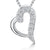 Sterling Silver Pendant -Tiny Heart With Pave Set With Cubic Zirconia Stones
