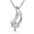 Sterling Silver Cubic Zirconia Curve Pendant