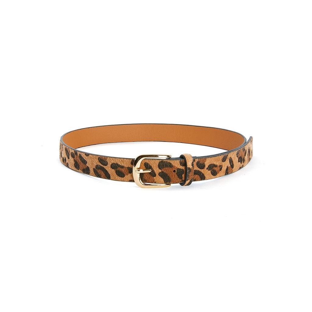 Buckle Design Leopard Belt - Fashion Accessories