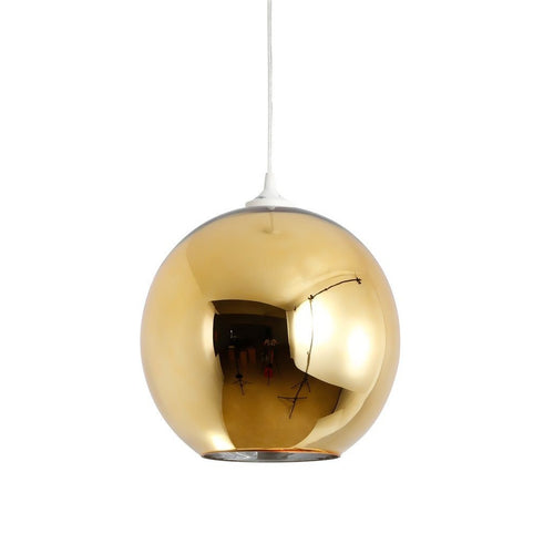 Mirror Ball Shade Pendant Lamp - Gold - Home - Furniture