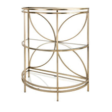 Glass Half Circle Console Table - Furniture