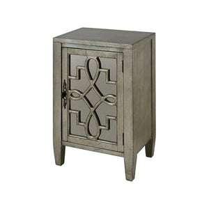 One Door Glass End Table - Furniture